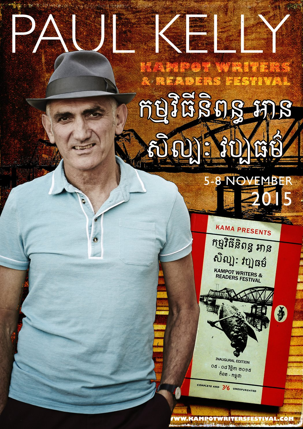 Paul Kelly Kampot Readers Writers Festival Kampot Cambodia